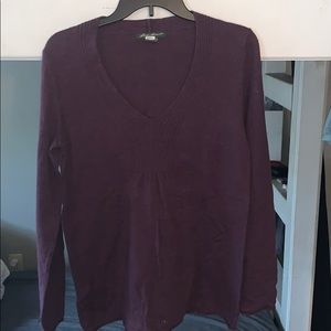 Purple V Neck sweater with detail